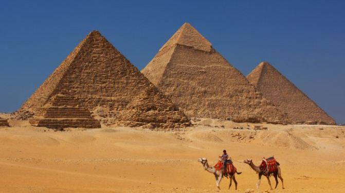 Marvel at the pyramids