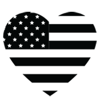 U.S.A. Heart Logo: Made locally, made with love.