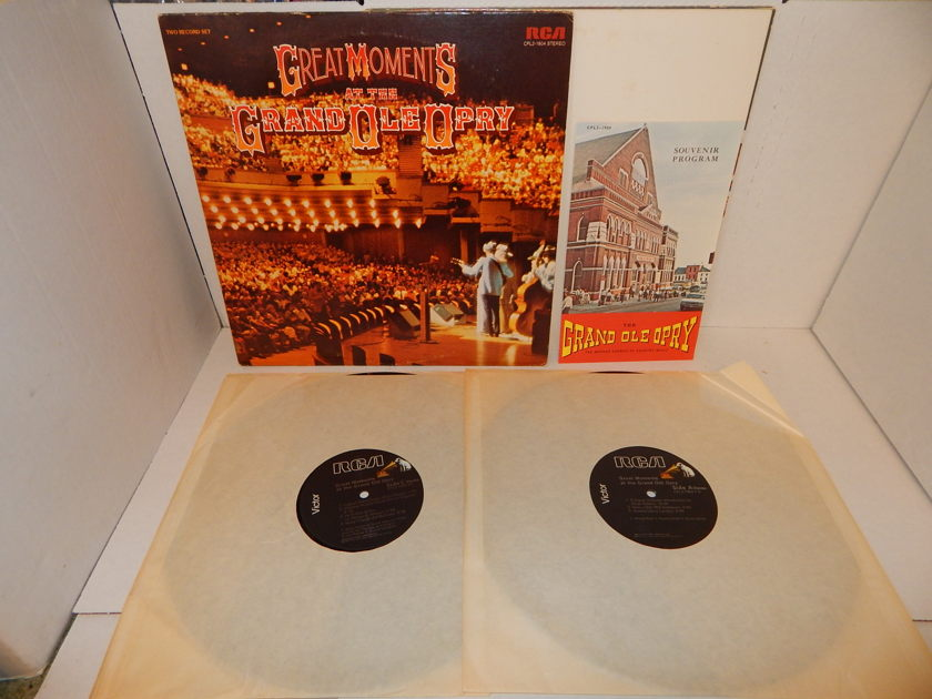 GREAT MONENTS AT THE GRAND OLD OPRY - Chet Atkins Sonny James Dolly Parton Various Country Double LP