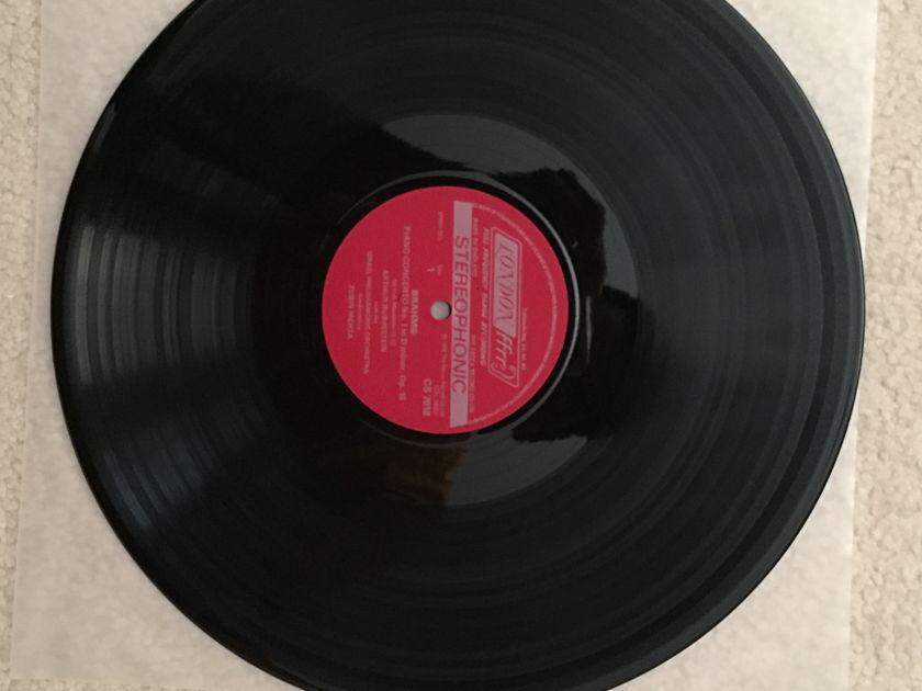 "Brahms - ""Piano Concerto No.1"" Rubinstein / Mehta London FFrr Vinyl LP import NM"