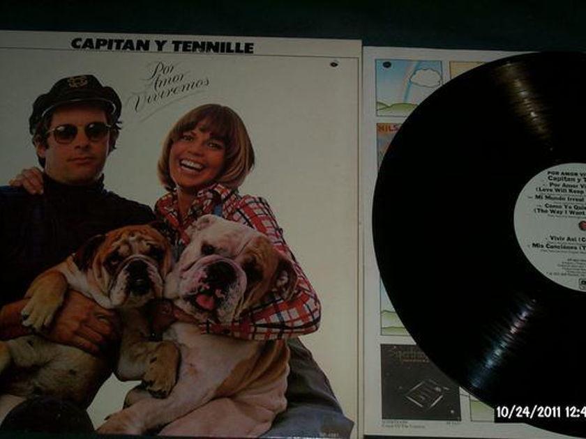 Captain & Tennille - Por Amor Viviremos white label promo lp nm