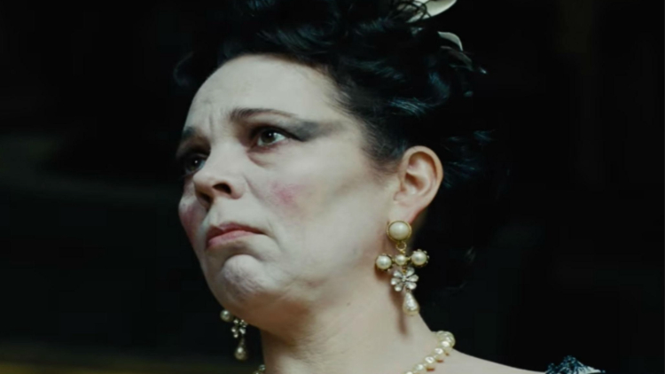 Actress Olivia Colman as Queen Anne
