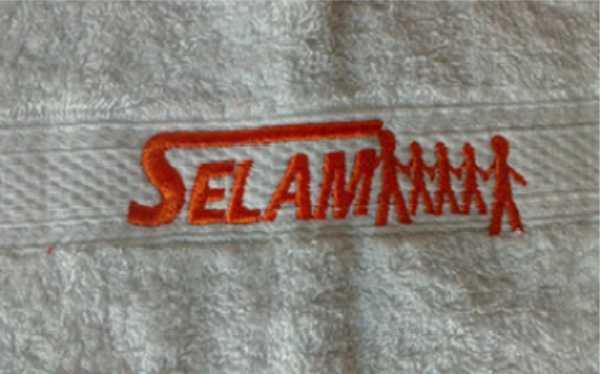 Handtücher besticken: Handtücher mit Namen, Logo und Slogan besticken lassen.