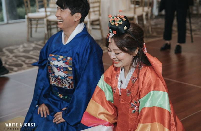 KOREAN TRADITIONAL PAEBAEK TEA CEREMONY COUPLE