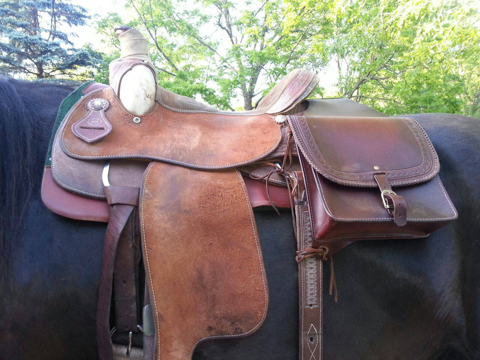 custom horse saddle bags