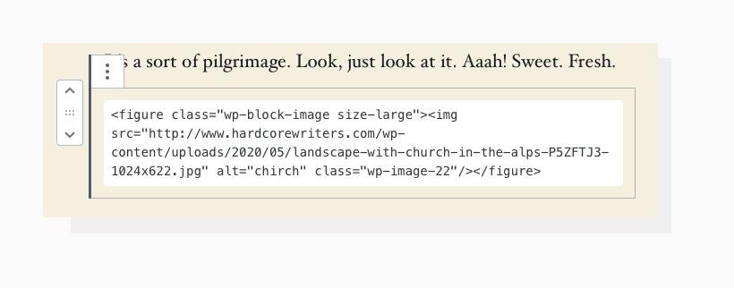 WordPress blog post image insert HTML code