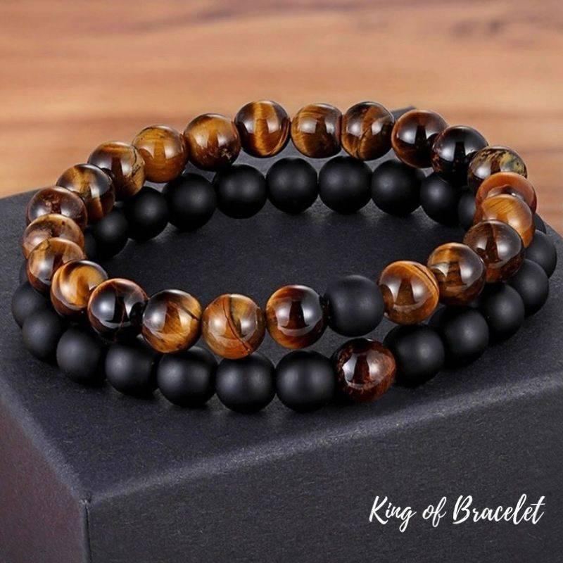 Bracelet Distance en Perles Oeil de Tigre - King of Bracelet