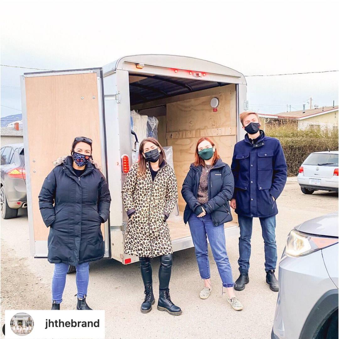 Jillian Harris  of JHTheBrand delivering mattresses with Haven Sleep Co Team December 2020
