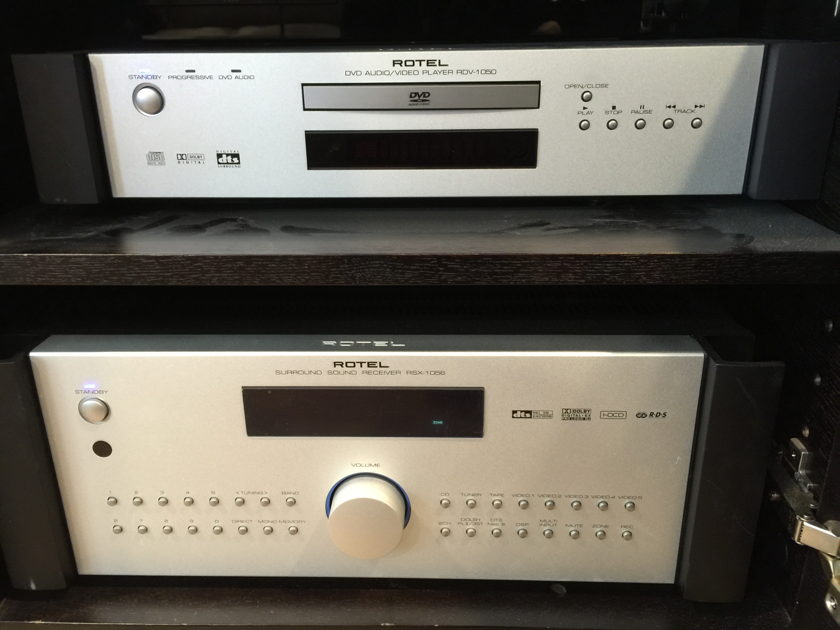 Rotel RSX-1056, RB-1070 & RDV-1050 ONLY THE RECEIVER AND DVD LEFT, THE RB-1070 IS SOLD