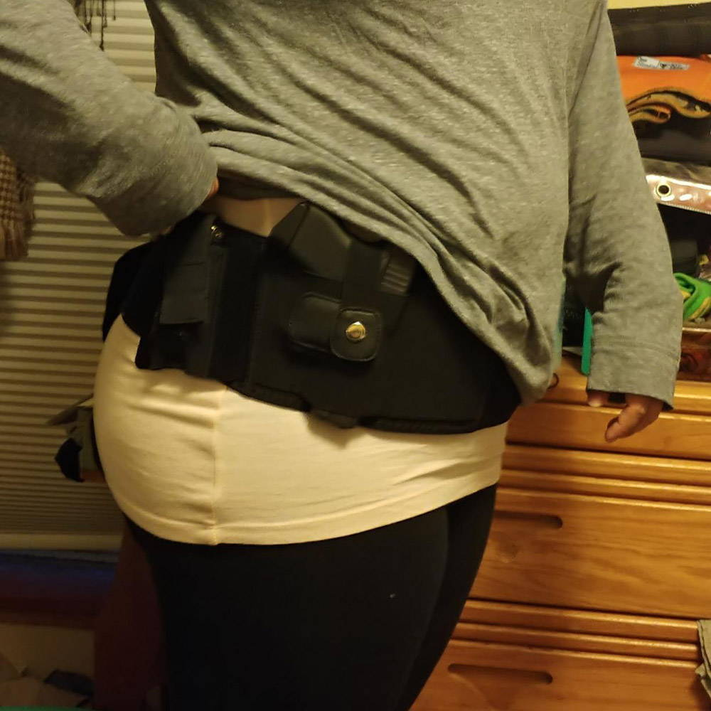 female belly band holster, female holsters, female concealed carry