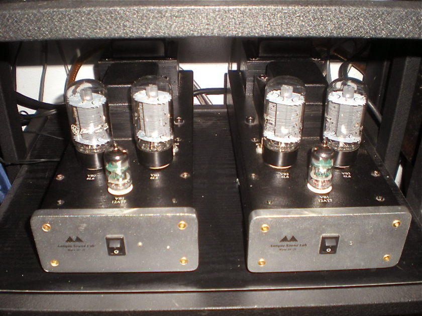ANTIQUE SOUND LABS [ ASL ] WAVE AV-25 TWIN MONO AMPS WORKING PERFECTLY