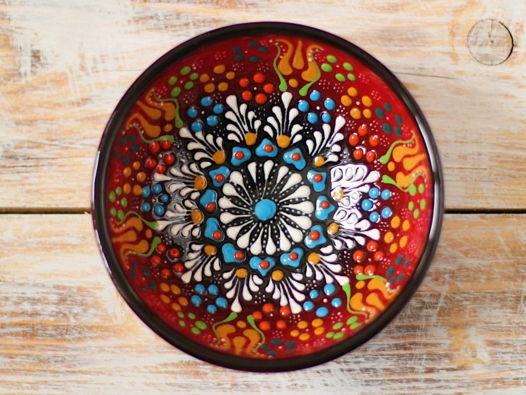 Маленькая керамическая пиала (красная)