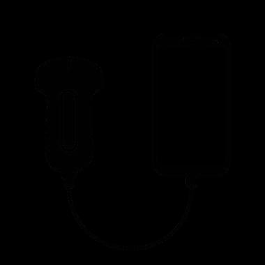 Échographie portable avec fil.