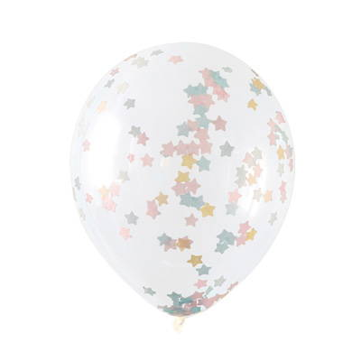 Hello Party confetti filled Latex Balloons