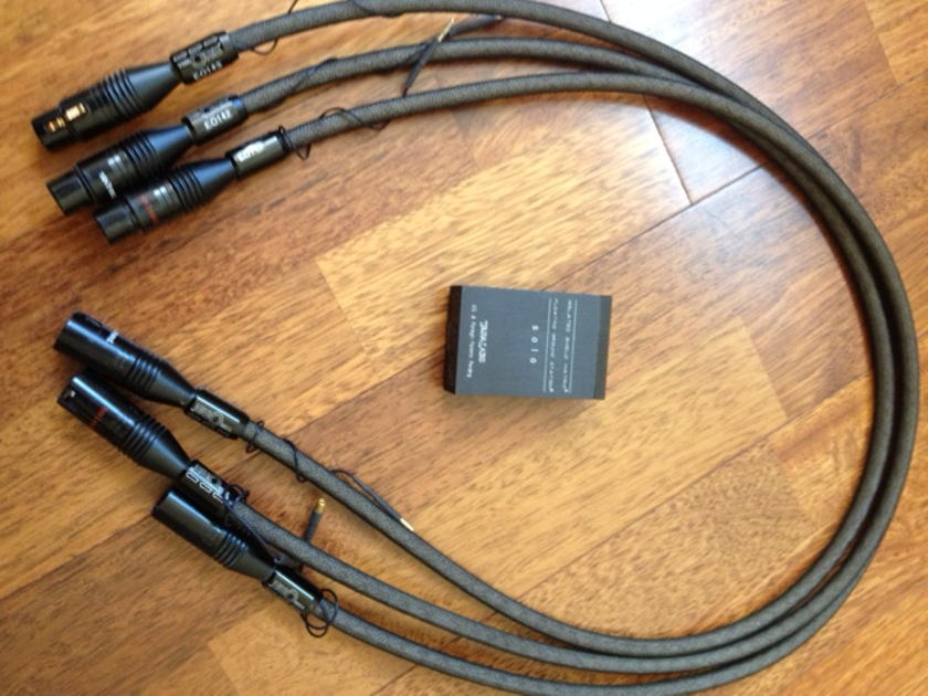 Tara Labs  The One  (One pair plus one extra)  With ISM  3 CABLES 1 meter XLR