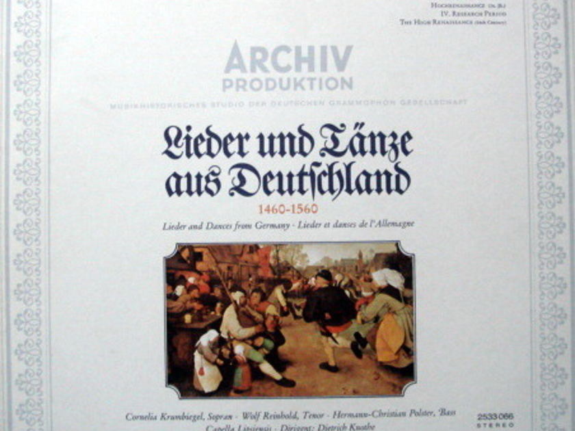 Archiv /KNOTHE, - Lieder and Dances from Germnay, MINT!
