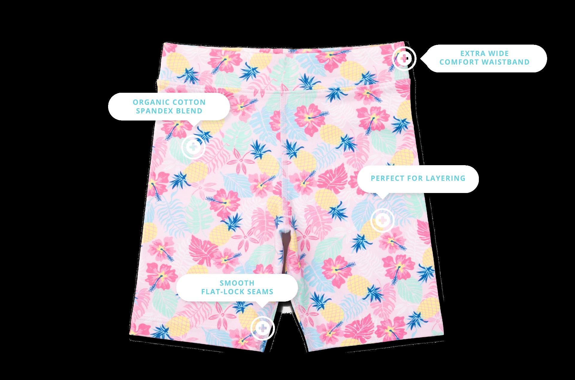Kylie Girls Organic Cotton Bike Shorts