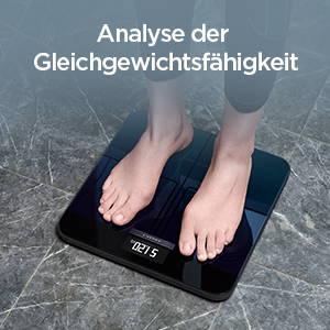Amazfit Smart Scale - Analyse der Gleichgewichtsfähigkeit