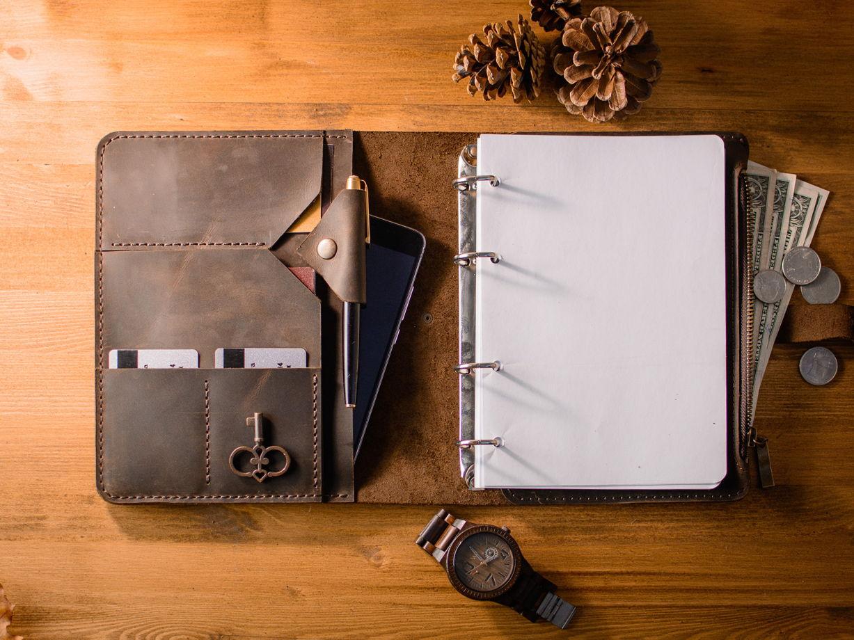 Бизнес блокнот-органайзер/папка для Ipad Mini -RESPECT- формат А5 цвет Chocolate