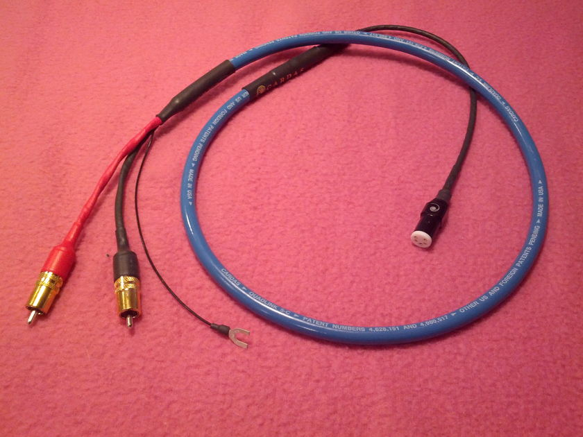 Cardas QuadLink-5 C Phono Cable 4ft. RCA to DIN Terminations