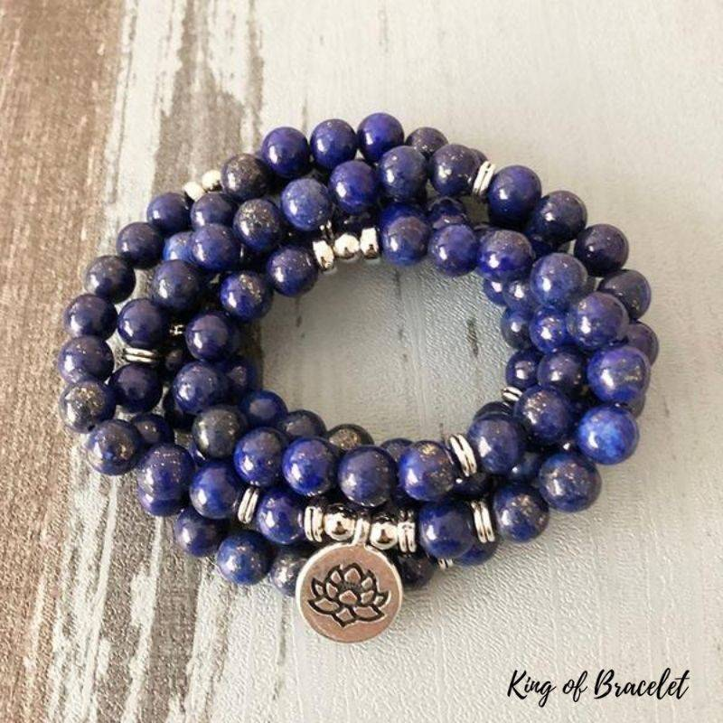 Bracelet Mala 108 Perles en Lapis Lazuli - King of Bracelet