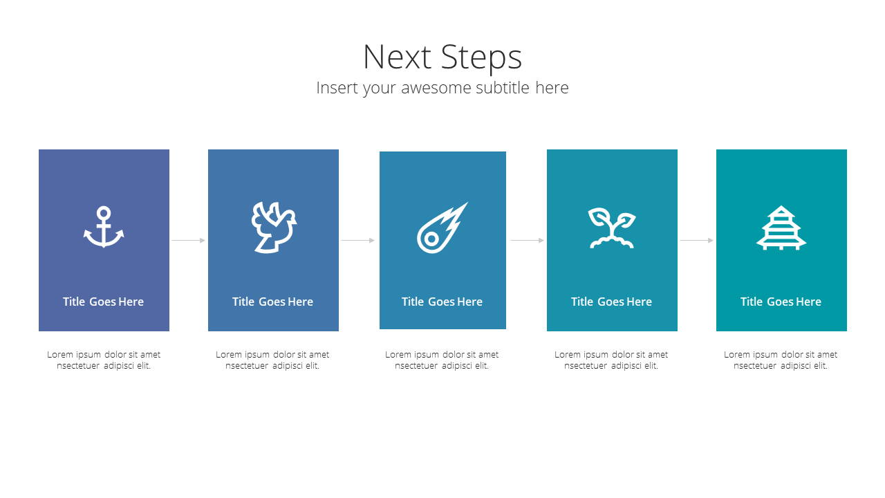Modern X Consulting Firm Proposal Presentation Template Next Steps
