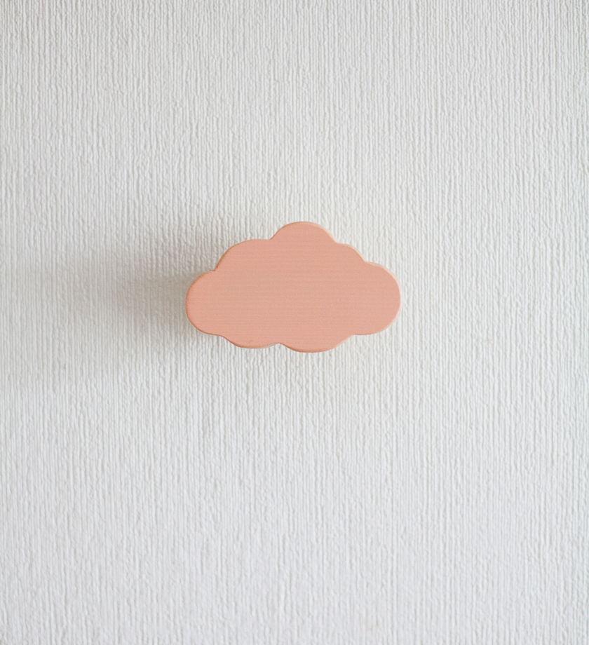 """Деревянная вешалка """"Персиковое облако"""""""