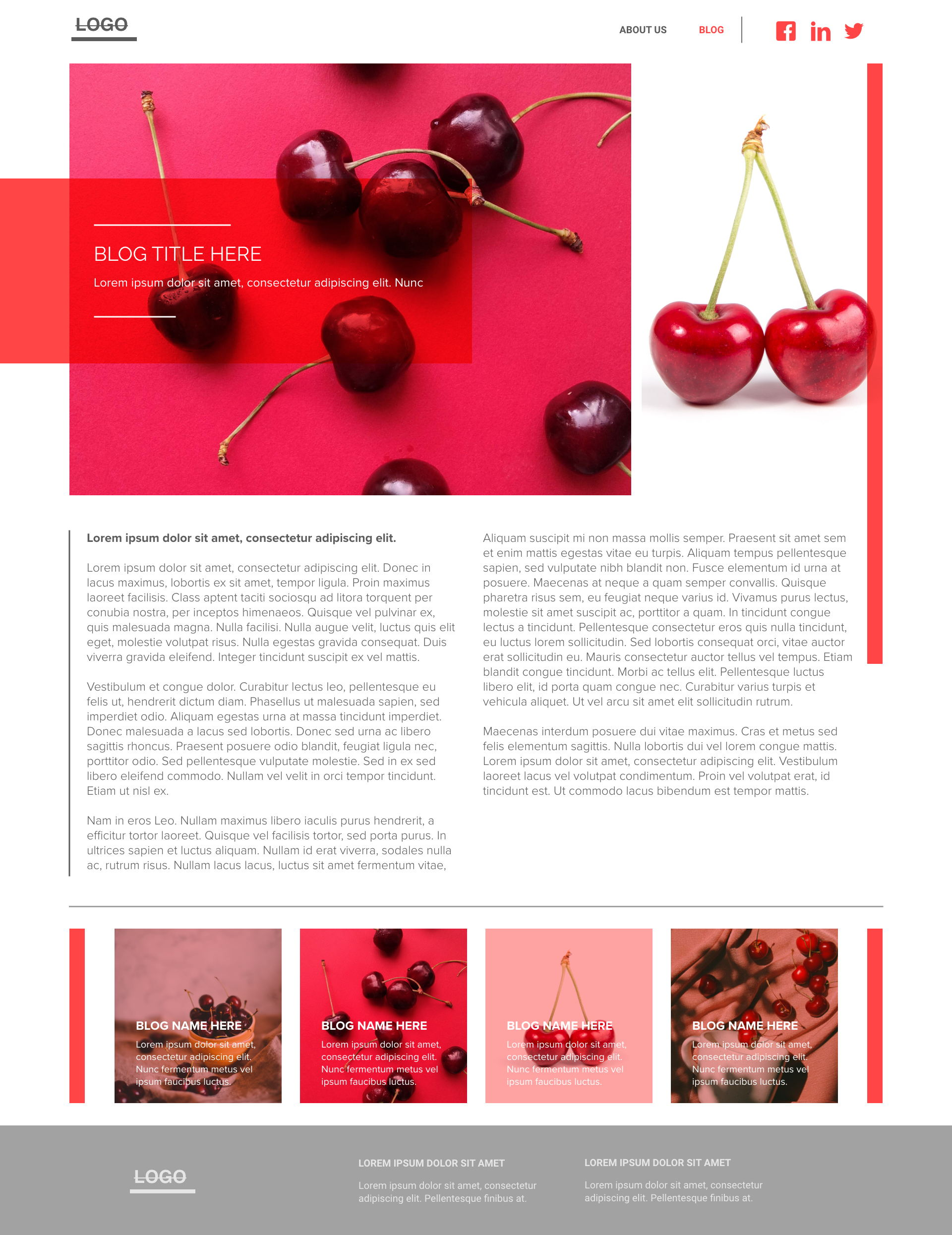 Cherry template's gallery image
