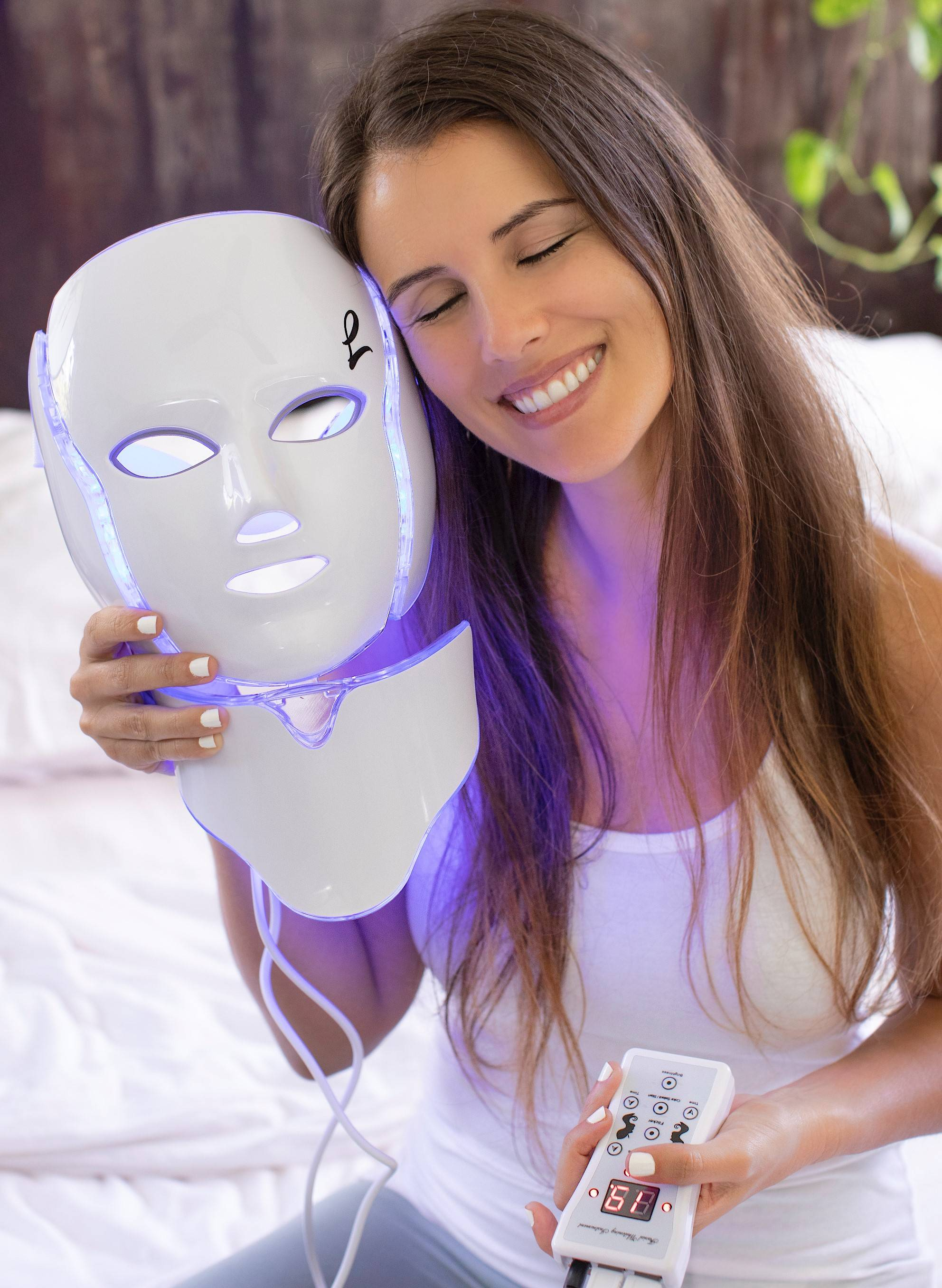 led face mask, acne light mask, light mask for face, led light therapy