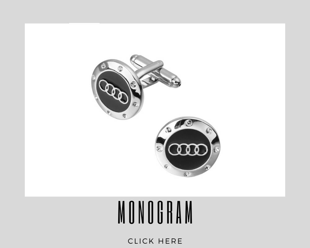 Corporate Custom Monogrammed Cufflinks