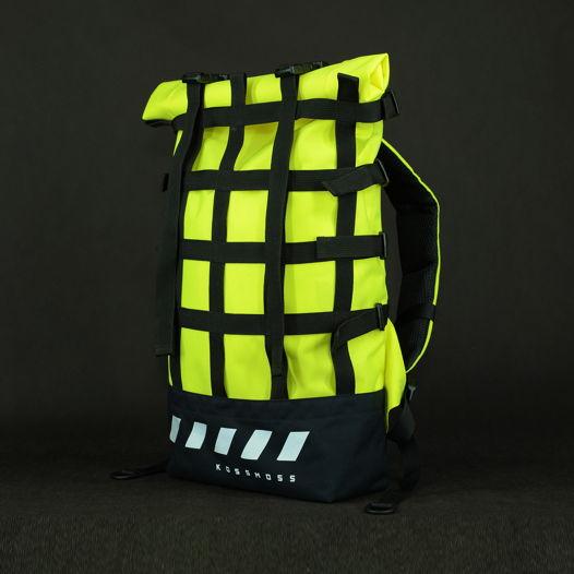 Лимонный рюкзак / Светоотражающая Сумка / Lime green reflective backpack