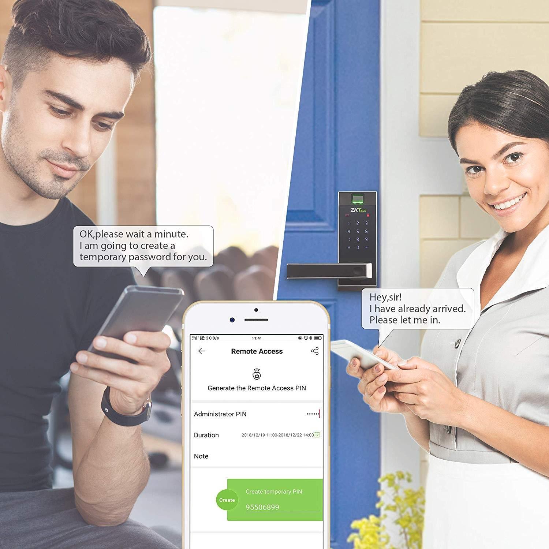 mobile app of this smart door lock