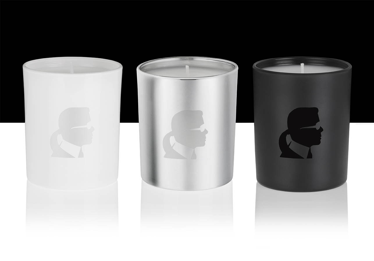 Constantly at the cutting edge of creativity, Karl Lagerfeld likes to work with talented partners.  For this first collection under the KARL LAGERFELD brand, John-Paul Welton, creator of perfumes based in Grasse, captured the very characteristic world of the fashion house, expressing it in olfactory terms. The ensuing three scented candles give the interior a very unique touch, in tune with the image of the famous designer.