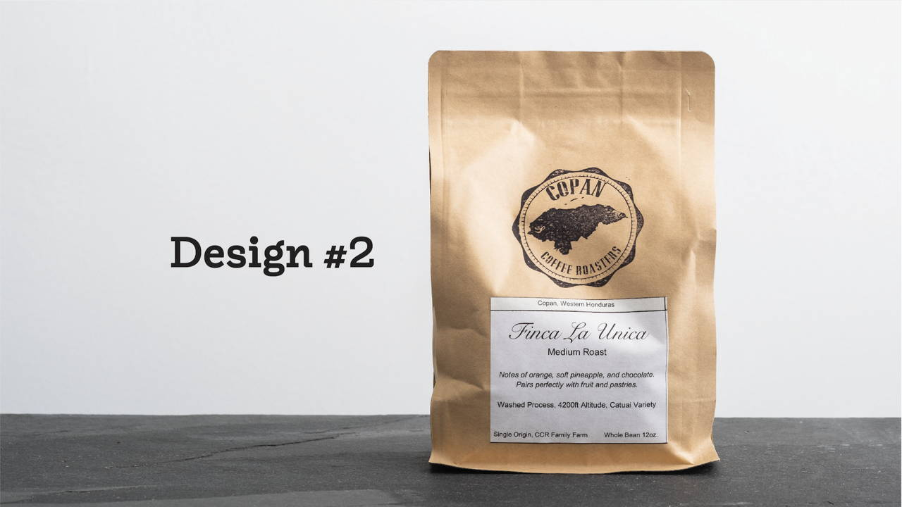 "Brown Paper Bag of Coffee with Label that states ""Finca La Unica"""