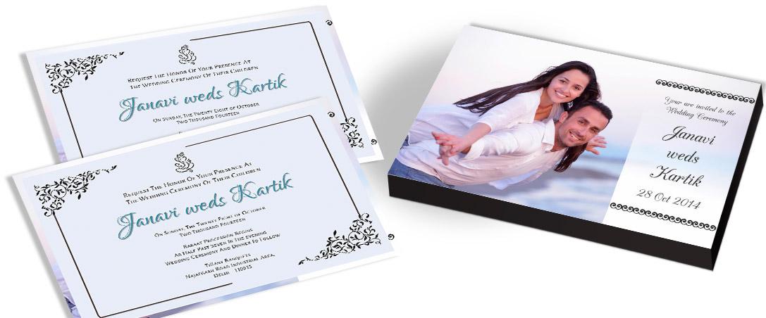 Photo framed Wedding Invitation