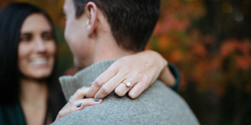 Engagement session in a nature preserve