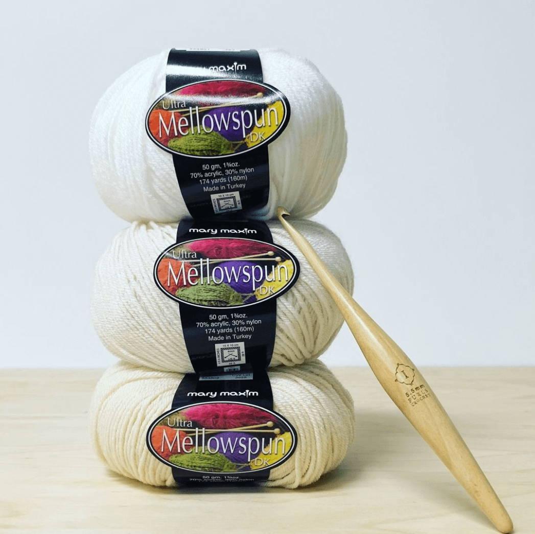 Mellowspun White Yarns Acrylic