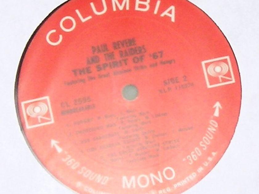 "PAUL REVERE & THE RAIDERS - ""The SPIRIT OF '76"" COLUMBIA MONO 1st PRESS ***VERY GOOD 8/10***"