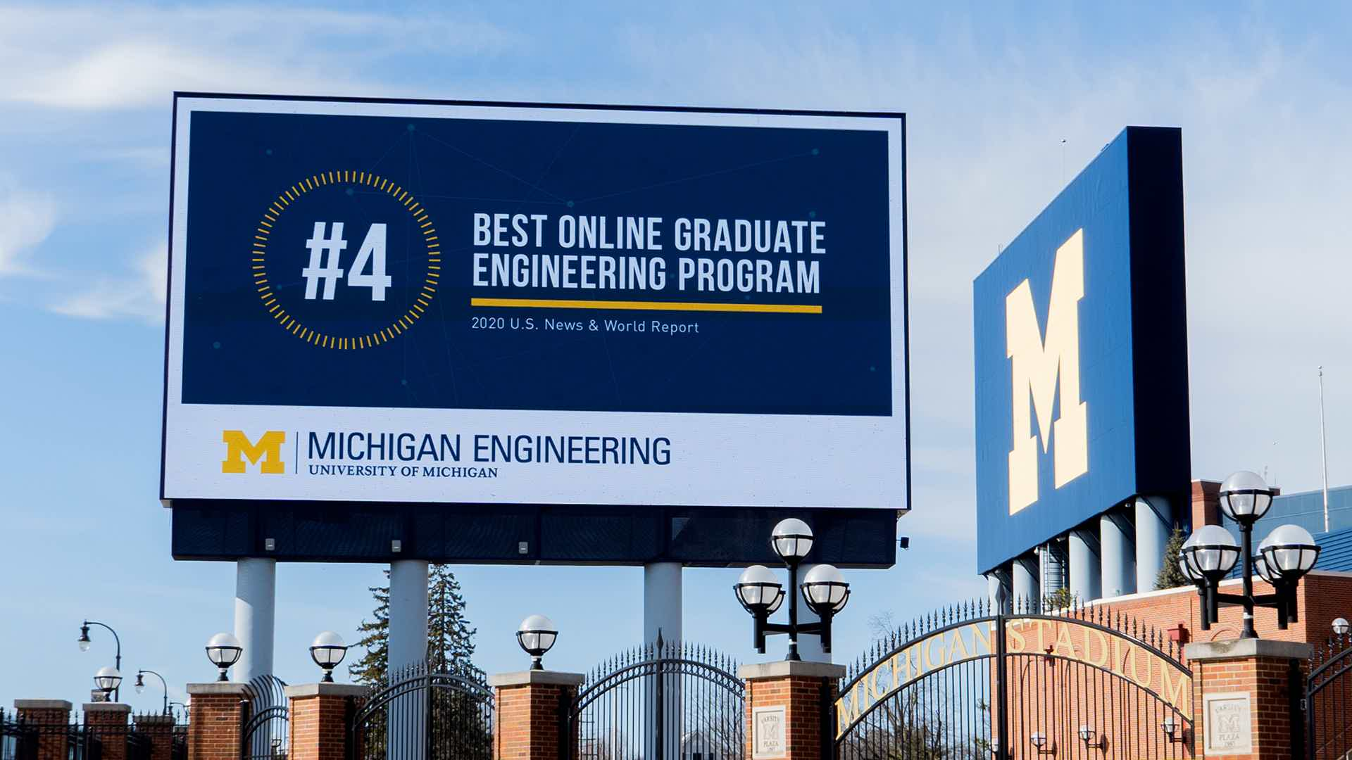 University of Michigan Engineering Ranked #4 Best Online Graduate Engineering Program