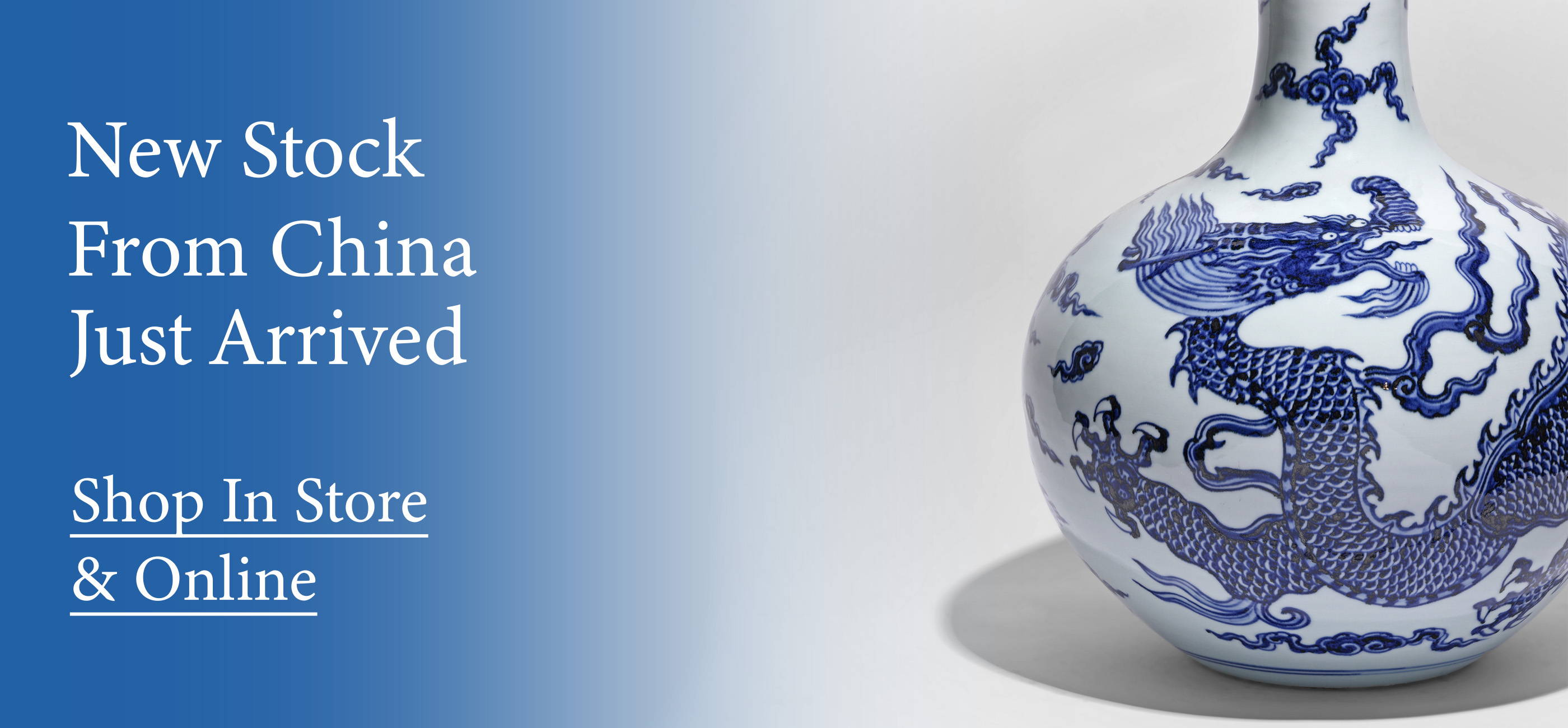 Shop our latest arrivals of Chinese antique furniture and these blue & white Chinese vases
