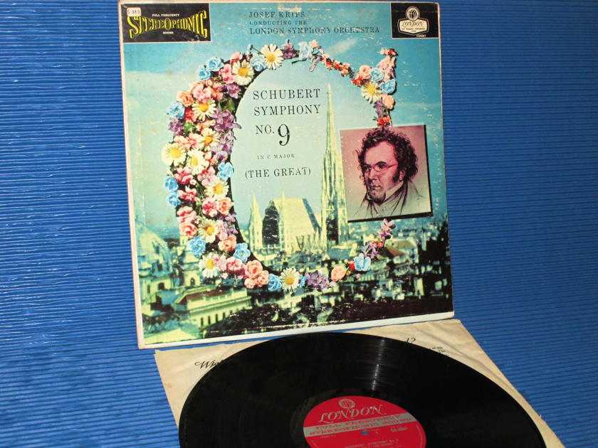 "SCHUBERT / Krips  - ""Symphony No. 9 'The Great'"" - London 'Blue Back' 1958 1st Pressing"