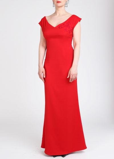 Платье красное FluffyAnn