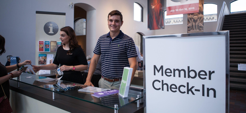 Member Check In desk