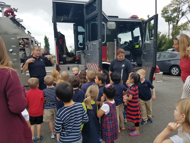 Firefighters Visit During Fire Prevention Week