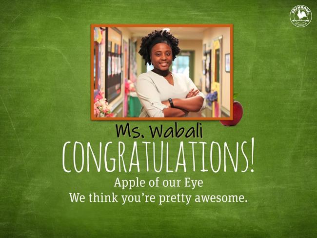 Ms. Wabali Apple of the Eye