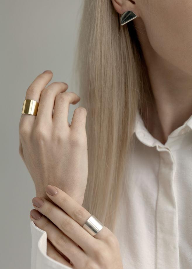 Simple | кольцо (белый родий)