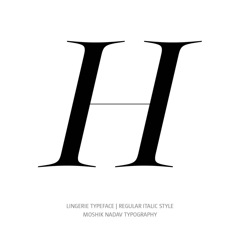 Lingerie Typeface Regular Italic H