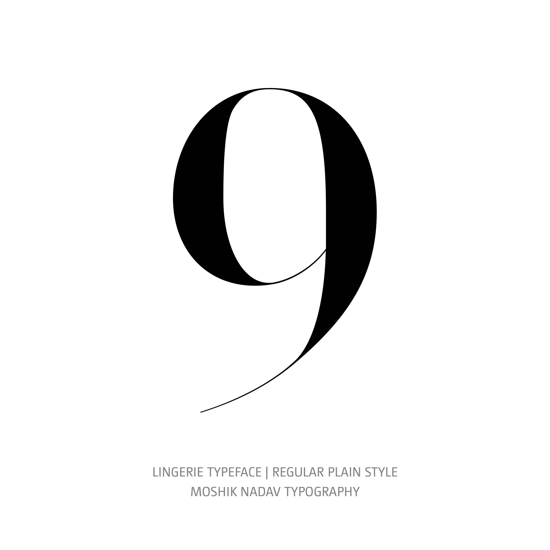 Lingerie Typeface Regular Plain 9