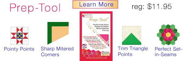 Prep-Tool by Guidelines4Quilting - Scant 1/4
