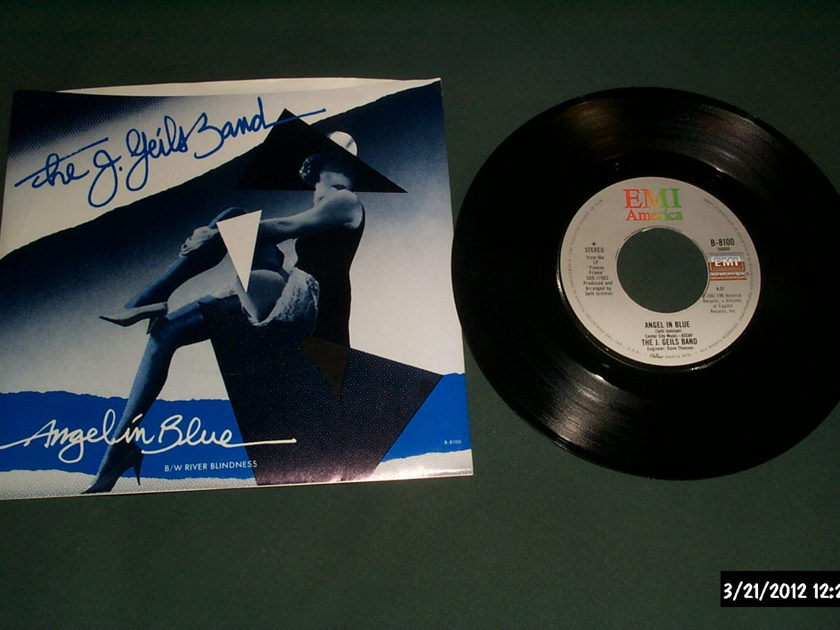 J Geils Band - Angel In Blue 45 With Picture Sleeve NM